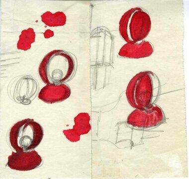 06_Palainco_Artemide_Vico_Magistretti_Eclisse_Table_Lamp_Bedside_Lamp_Original_Sketch