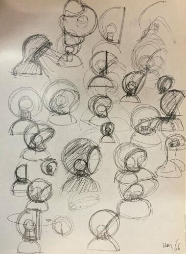 07_Palainco_Artemide_Vico_Magistretti_Eclisse_Table_Lamp_Bedside_Lamp_Original_Sketch