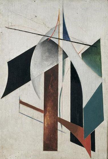 14_Palainco_Alexander_Rodchenko_Arteluce_Gino_Sarfatti_Avant_Garde_Abstract_Painting