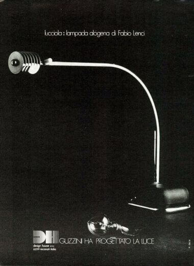 05_Palainco_Design_House_Guzzini_iGuzzini_Fabio_Lenci_Lucciola_Table_lamp_1973_Advertisement_Palainco_Archive